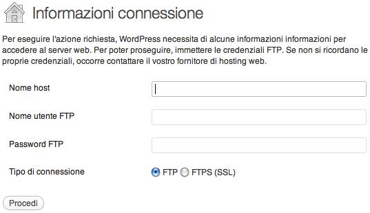 FTP e WordPress - Sickbrain.org