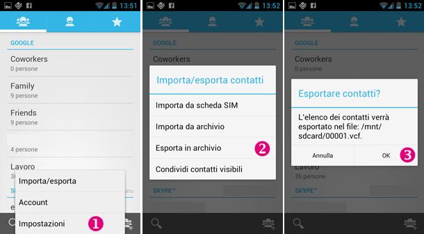 Come trasferire i contatti da Android a iPhone e viceversa android vcf