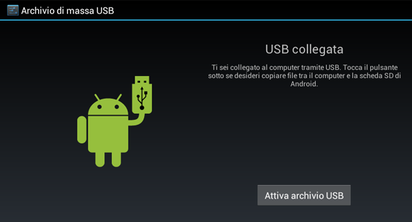 Sickbrain.org - Installare Google Play su tablet Dicra - USB