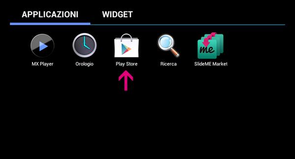 Sickbrain.org - Installare Google Play su tablet Dicra - Google Play Install